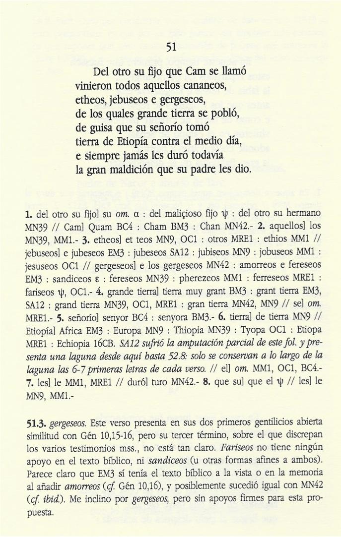 Página de un edición crítica