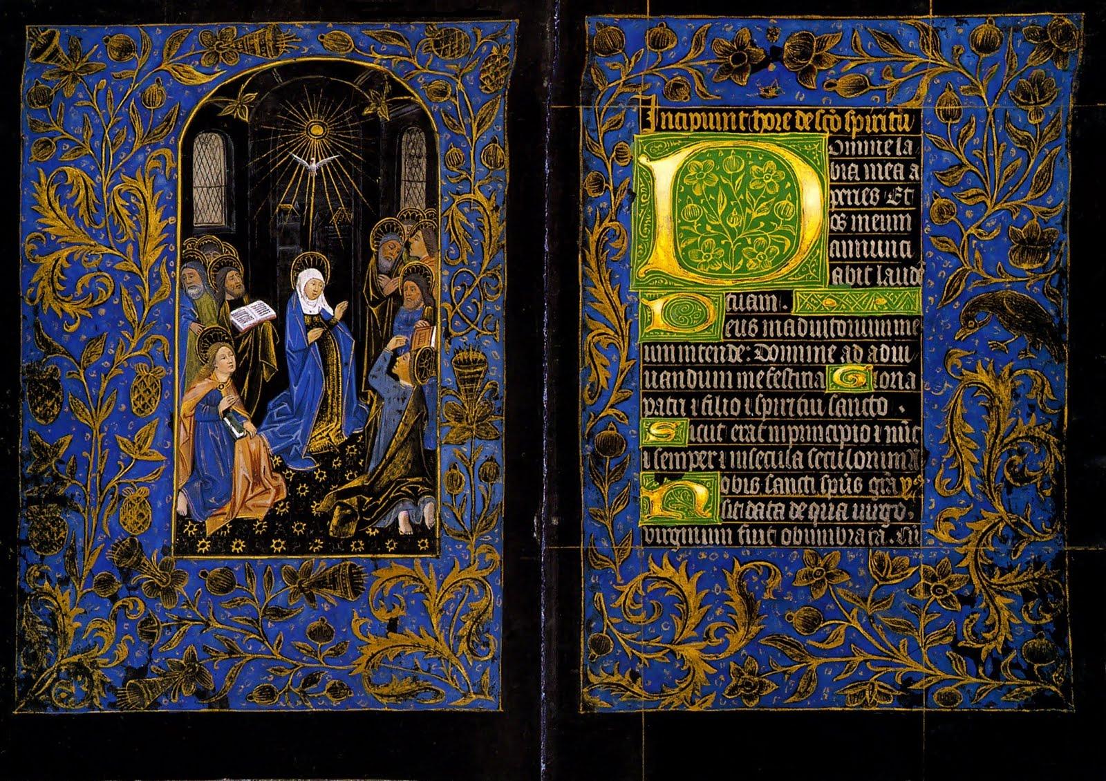 Horas Negras, fols. 18v–19r. Morgan Museum, Nueva York