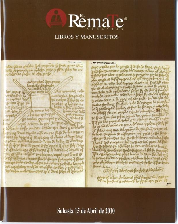 Catálogo en el que se anuncia la venta del fragmento de Gonzalo Rodríguez Escobar (2010)
