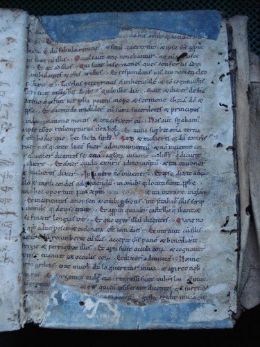 Parte interior de la contratapa del ms. xx de la Casa de Alba.Foto: JMFR