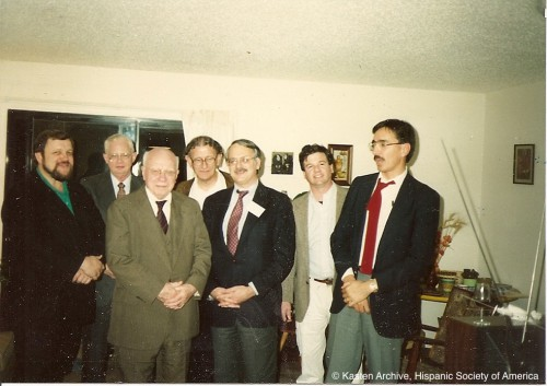 Lloyd Kasten (3º por la izqda.) y sus alumnos: Joseph Snow, Robert MacDonald, Eric Naylor, Charles Faulhaber, John Nitti y Anthony Cárdenas Rotunno.